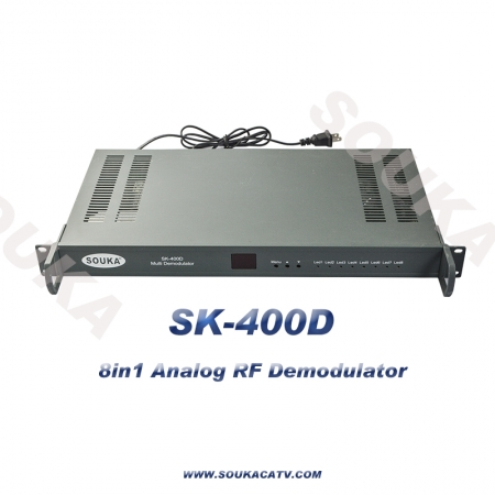 RF demodulator with 8 BNC output